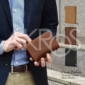 Costa Liberta(コスタリベルタ) CL0181 USAヌバック ラウンドジップショート財布