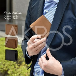 Costa Liberta(コスタリベルタ) CL0280 USAヌバック 折財布