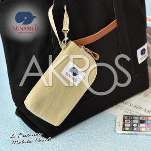 SUNAMELi(スナメリ) sm023 キャンバス L字ファスナーモバイルポーチ
